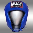 Lederen-hoofdbeschermer-MUAY-amateur-blauw