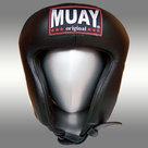 Lederen-hoofdbeschermer-MUAY-amateur-zwart