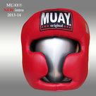 Lederen-hoofdbeschermer-MUAY-rood