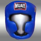 Lederen-hoofdbeschermer-MUAY-blauw