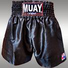 Muay-Short-Satijn-egaal-Zwart