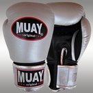 MUAY®-bokshandschoenen-Zilver-Zwart