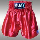 Muay-Short-Satijn-egaal-Rood