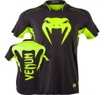 Venum-Hurricane-X-Fit™-T-shirt-Black-Neo-Yellow