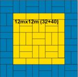 Agglorex Judomatten 100x100x2.5 cm._