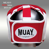 Lederen hoofdbeschermer MUAY - rood_