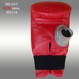 MUAY® Punch zakhandschoenen met open duim Rood_