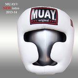 Lederen hoofdbeschermer MUAY - wit_