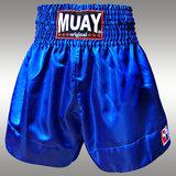 Muay Short Satijn egaal Blauw_