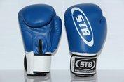 STB bokshandschoenen Kunstleer blauw-wit