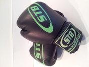 STB bokshandschoenen Kunstleer zwart-groen