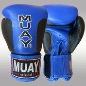 MUAY® Premium bokshandschoenen Zwart/Blauw