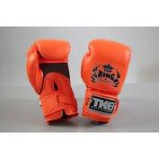 Top King bokshandschoenen Double Velcro NEON Oranje