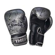 Top King bokshandschoenen Snake Zilver - zwart