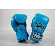 Top King bokshandschoenen Double Velcro NEON Blauw