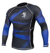 Hayabusa Metaru Rashguard L/S Black/Blue