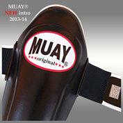 MUAY® PRO scheenbeschermers - shin and instep zwart