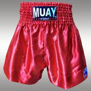 Muay Short Satijn egaal Rood