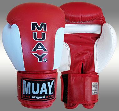MUAY® Premium bokshandschoenen Rood/Wit