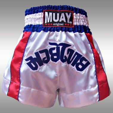 Muay Short Satijn '2 STRIPES'