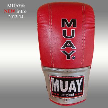 MUAY® Punch zakhandschoenen met open duim Rood