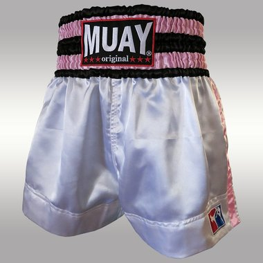 MUAY SHORT WIT-ROZE