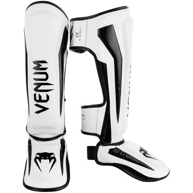 VENUM ELITE STANDUP SHINGUARDS - WHITE/BLACK