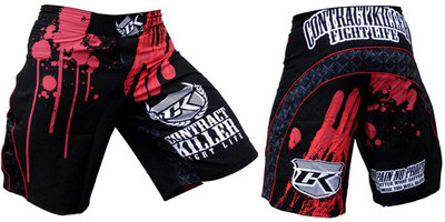 Stained Black Contract Killer MMA Shorts - S