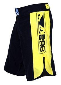 """Bad Boy"" MMA Shorts - Black / Yellow"