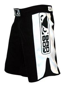 """""""Bad Boy"""" MMA Shorts - Black / White"""