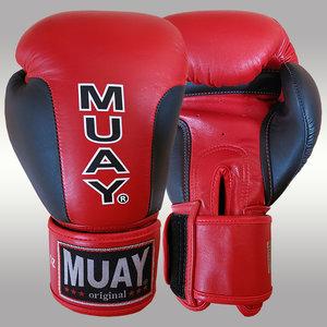 MUAY® Premium bokshandschoenen Zwart/Rood