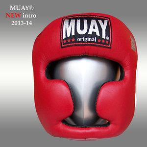 Lederen hoofdbeschermer MUAY - rood