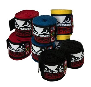 """Bad Boy"" zwachtels / bandages / hand wraps - 3.5m Stretch"