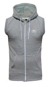 """Bad Boy"" Sleeveless Sweatshirt - Light Grey"