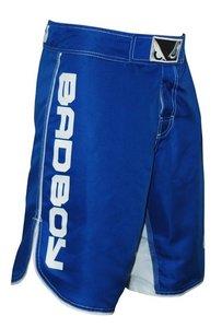 """Bad Boy"" MMA Shorts - Blue/White - L"