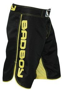 """Bad Boy"" MMA Shorts - Black/Yellow"