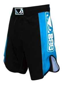 """Bad Boy"" MMA Shorts - Black / Blue - L"
