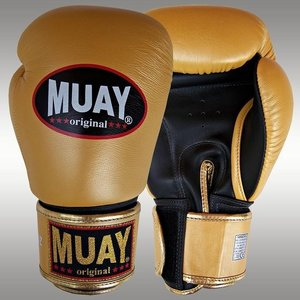 MUAY® bokshandschoenen Goud/Zwart