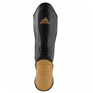 Adidas Hybrid Super Pro Scheenbeschermer Zwart/Goud